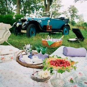 Picnic lunch - picnic - vintage car.jpg