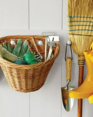 Laundry rooms and mudrooms - mylusciouslife.com - Martha bike-basket