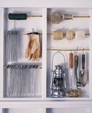 Laundry rooms and mudrooms - mylusciouslife.com - Martha Stewart garage organisation
