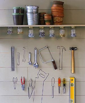 Laundries and mudrooms - mylusciouslife.com - Martha Stewart tool wall