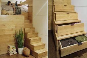 Home organisation ideas - mylusciouslife.com -  via freshome.com stair storage ideas5.jpg