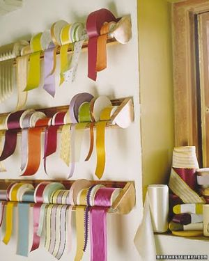 Home organisation ideas - mylusciouslife.com - Ribbon Storage from Copper Gutters Martha Stewart.jpg