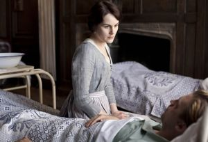 downton abbey S2 Mary at Matthew bedside.jpg