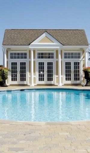 Pictures of pool houses - pool house via myLusciousLife.com.jpg