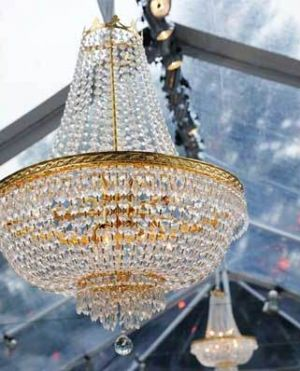 sophisticated chandeliers - mylusciouslife.com - Empire Chandelier with gold.jpg