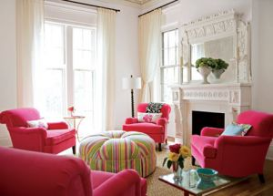 pink decorating ideas - myLusciousLife.com - Living room.jpg