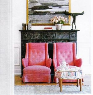 pink decorating ideas - myLusciousLife.com - pretty in pink armchairs.jpg