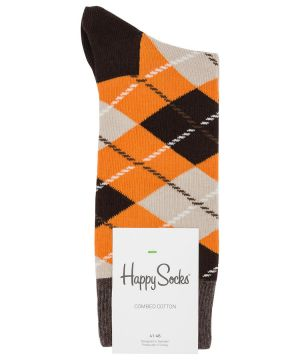 Gifts for men - Brown yellow - Happy Socks Argyle Brown And Yellow Socks Brown One.jpg