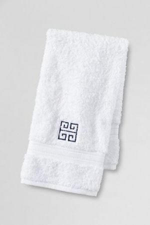 Gifts for men - Supima Embroidered Greek Key Hand Towel - White Navy.jpg