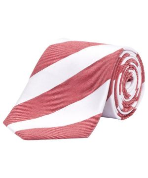 Gifts for men - Ties Jeff Banks Silk Red White Stripe Tie Red One.jpg