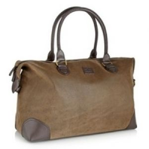 Jasper Conran Designer brown flocked holdall bag.jpg