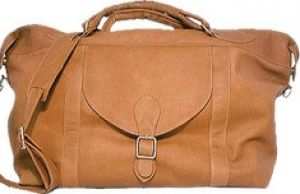 Weekend - David King Leather - 303 Top Zip Travel Bag - Tan.jpg