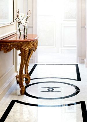 Floors and decor - Black and white Chanel logo floor.jpg
