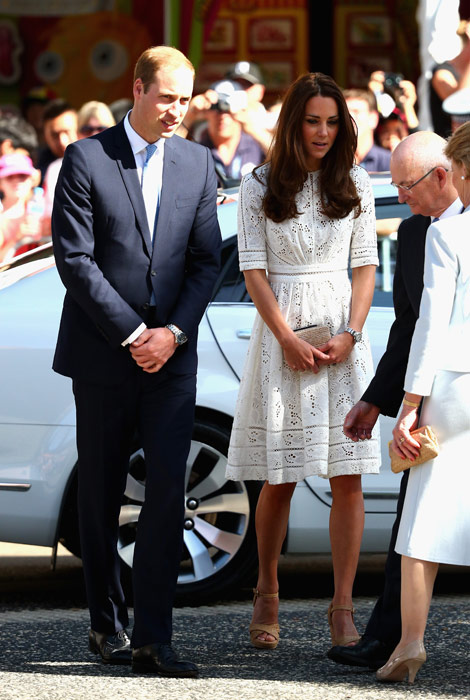 ROYAL TOUR: Kate Middleton in a white Roamer day dress by Australian