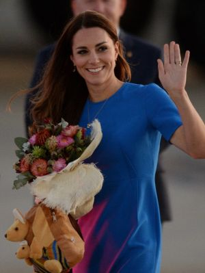 Kate Middleton arrives in Canberra in blue Ridley dress by Stella McCartney.jpg