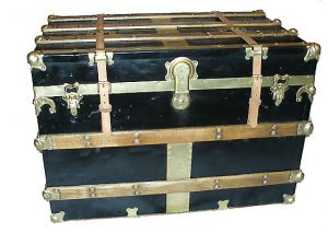 Vintage luggage - mylusciouslife.com - Black antique steamer trunk.jpg