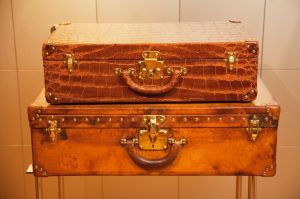 Vintage luggage - mylusciouslife.com - Louis Vuitton suitcases by Todd Selby for The Selby.jpg