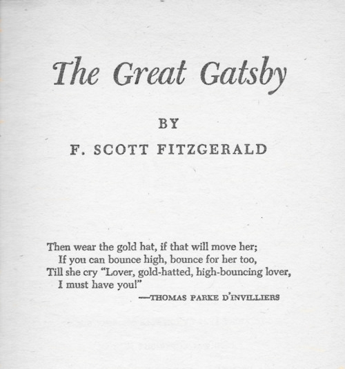 an example of jazz age literature as shown in the great gatsby a novel by f scott fitzgerald She and scott became emblems of the jazz age which scott fictionalised in his novel, the great gatsby the f scott and zelda fitzgerald museum opened in.