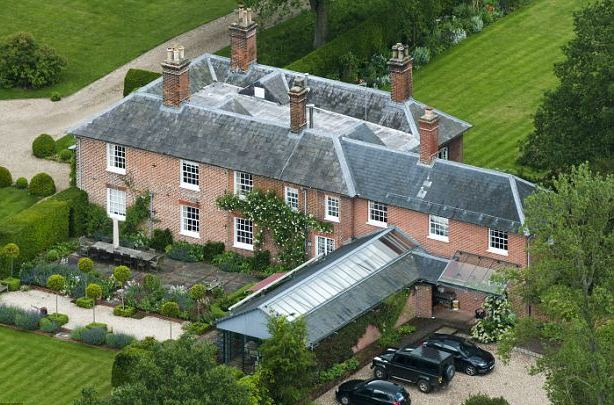 The Bucklebury Berkshire home of Kate's parents, Carole and Mike Middleton