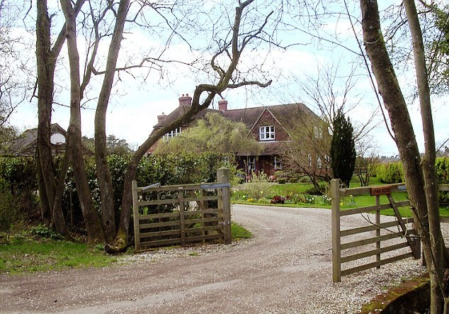 The Middleton's former home in Bucklebury in Berkshire