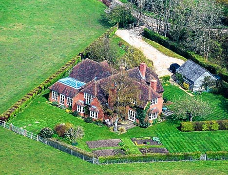 The former Middleton family home in Bucklebury