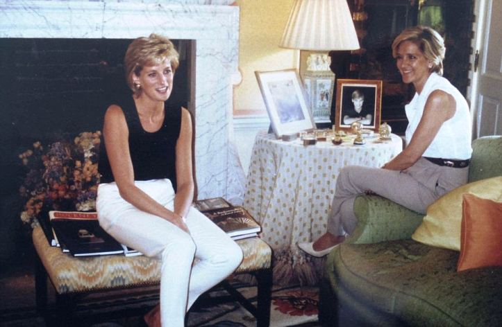 Princess Diana In Her Drawing Room At Kensington Palace